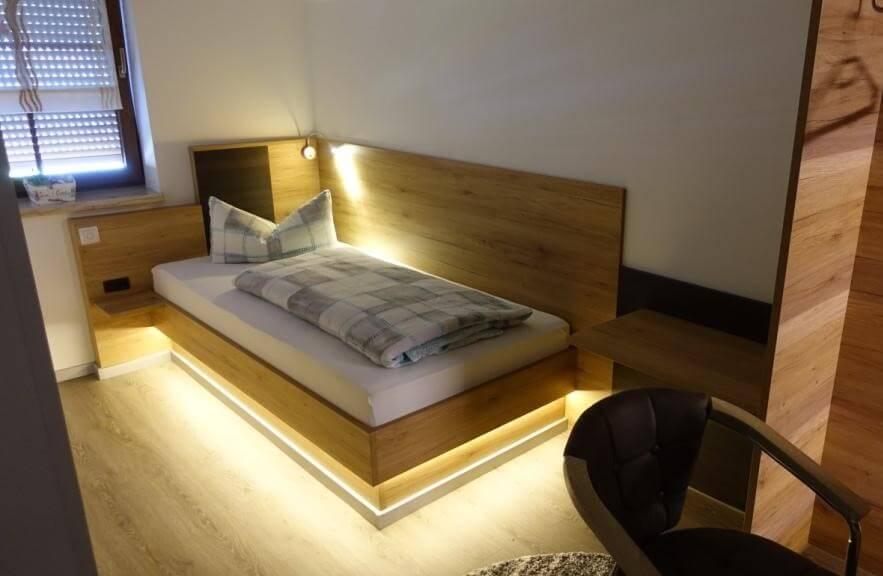 Moderne Einzelzimmer ideal für Monteure