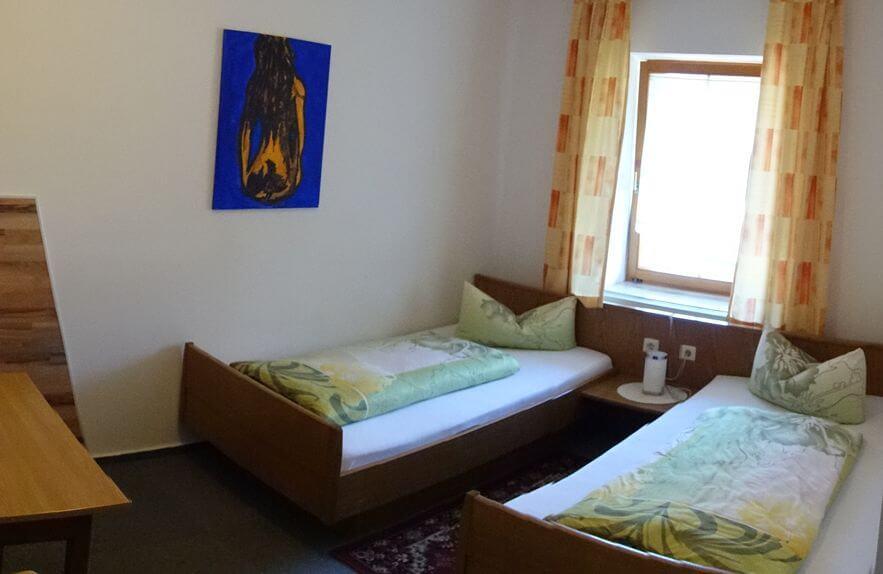Monteurzimmer mit getrennten Betten